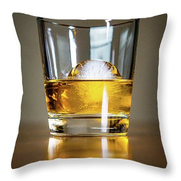 Glass Of Whisky Throw Pillow