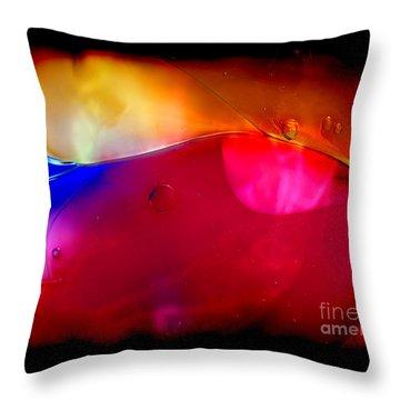 Glass Paint Abstract Dark Throw Pillow