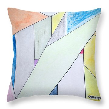 Throw Pillow featuring the mixed media Glass-scrapers by J R Seymour