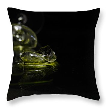 Throw Pillow featuring the photograph Glass Shard by Susan Capuano