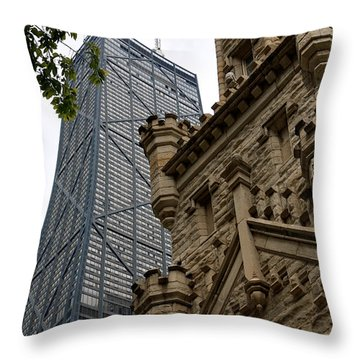 Glass Steel And Stone Throw Pillow