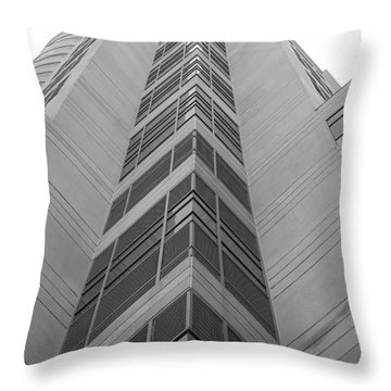 Throw Pillow featuring the photograph Glass Tower by Rob Hans
