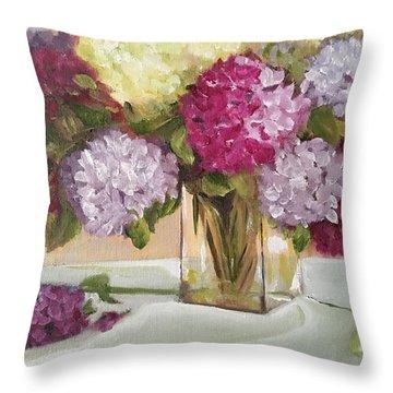 Glass Vase Throw Pillow by Sharon Schultz