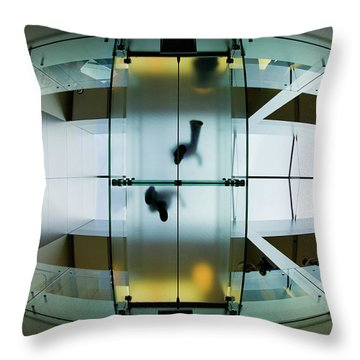 Glass Walkway Apple Store Stockton Street San Francisco Throw Pillow