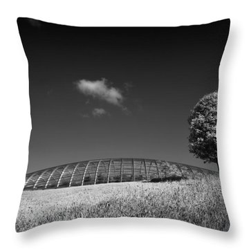 Glasshouse At The National Botanic Gardens, Wales Throw Pillow