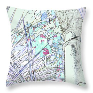 Throw Pillow featuring the photograph Glasshouse Jungle by Nareeta Martin