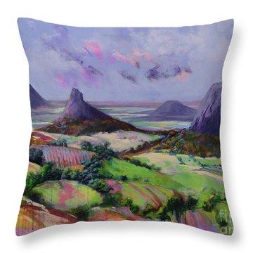 Glasshouse Mountains Dreaming Throw Pillow
