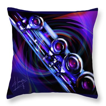 Throw Pillow featuring the painting Glassical Flute by DC Langer