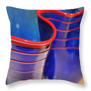 Glassworks 1 Throw Pillow by Marty Koch