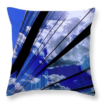 Glassy Confusion Throw Pillow