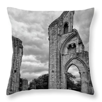 Throw Pillow featuring the photograph Glastonbury Abbey by Elvira Butler