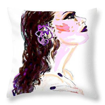 Throw Pillow featuring the digital art Glaze by Desline Vitto