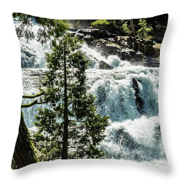 Glen Alpine Falls 1 Throw Pillow