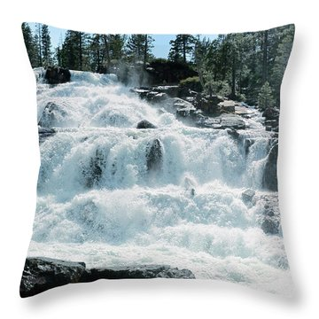 Glen Alpine Falls Mist Throw Pillow