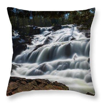 Glen Alpine Waterfall By Brad Scott Throw Pillow
