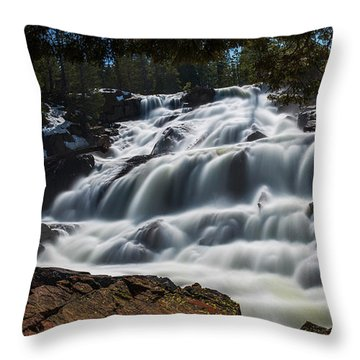 Glen Alpine Waterfall By Brad Scott Throw Pillow