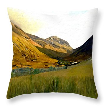 Glen Coe Throw Pillow