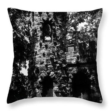 Glen Island Castle  Throw Pillow by Richard Rizzo