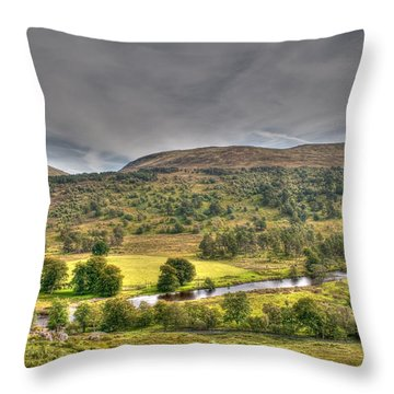 Glen Lyon Scotland Throw Pillow