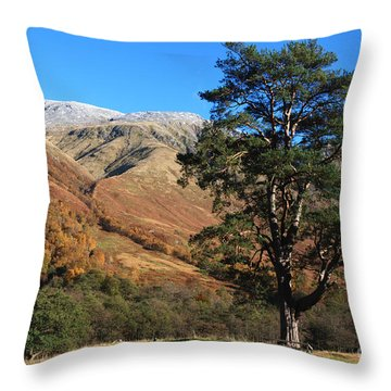 Glen Nevis In Autumn Throw Pillow