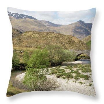 Glen Shiel - Scotland Throw Pillow