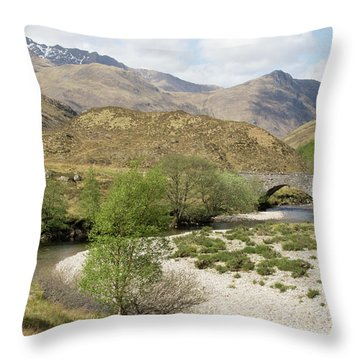 Throw Pillow featuring the photograph Glen Shiel - Scotland by Karen Van Der Zijden