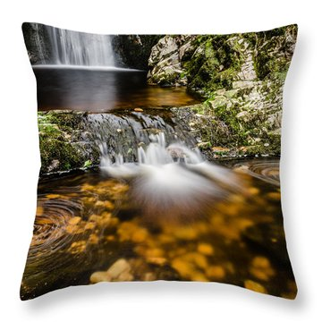 Glenevin Waterfall Clonmany Throw Pillow