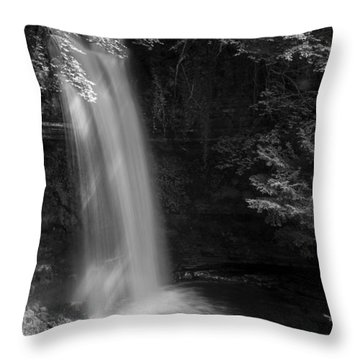 Glencar Waterfall Co Leitrim Throw Pillow