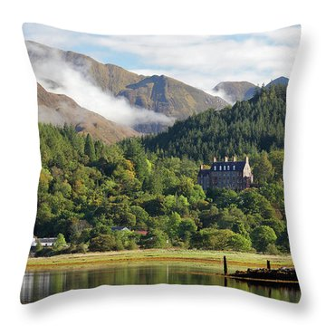 Throw Pillow featuring the photograph Glencoe House Landscape by Grant Glendinning
