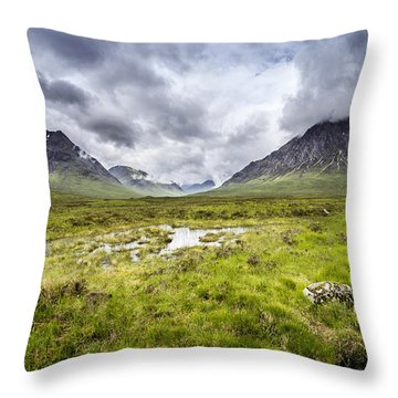 Throw Pillow featuring the photograph Glencoe by Jeremy Lavender Photography