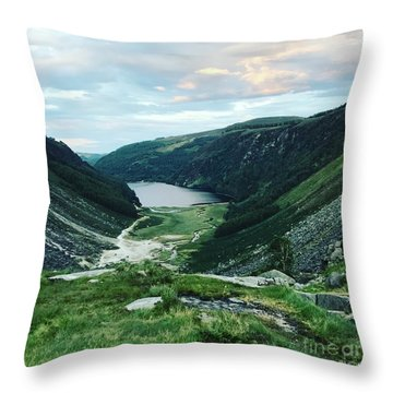 Glendalough Upper Lake Throw Pillow