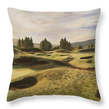 Gleneagles Kings Course Throw Pillow