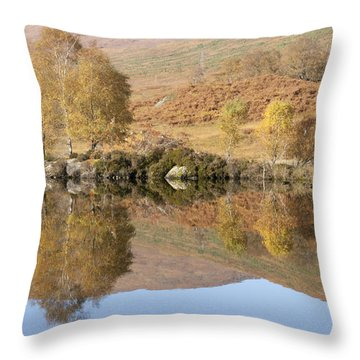 Throw Pillow featuring the photograph Glengarry Reflection by Karen Van Der Zijden