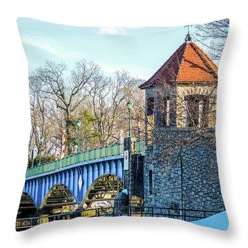 Glenn Island Drawbridge Throw Pillow