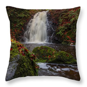 Gleno Falls Portrait View Throw Pillow