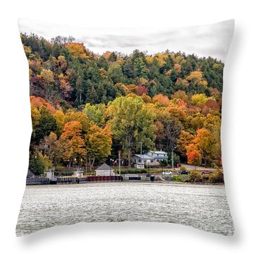 Glenora Ferry Dock Throw Pillow