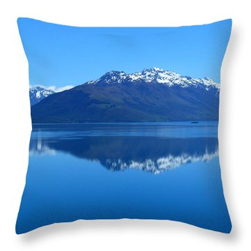 Glenorchy Road New Zealand Throw Pillow
