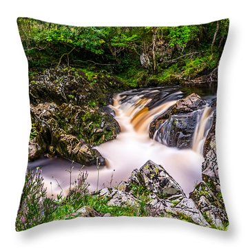 Glentrool Rivers And Falls Throw Pillow