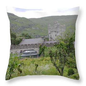 Glenveagh Castle Gardens 4287 Throw Pillow