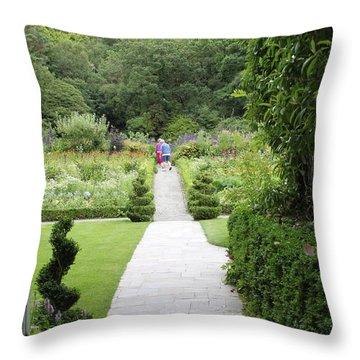 Glenveagh Castle Gardens 4272 Throw Pillow