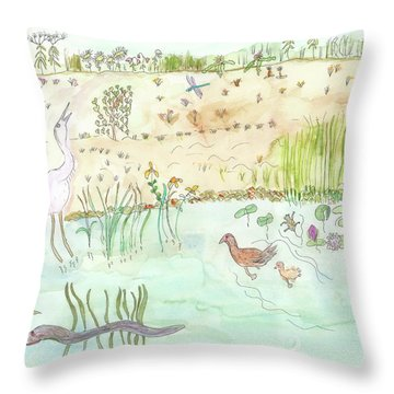 Glenwood Landing, Ny Throw Pillow