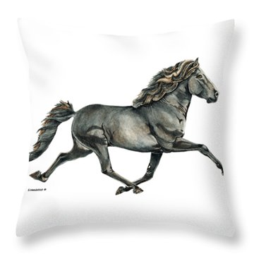 Throw Pillow featuring the painting Gletta by Shari Nees
