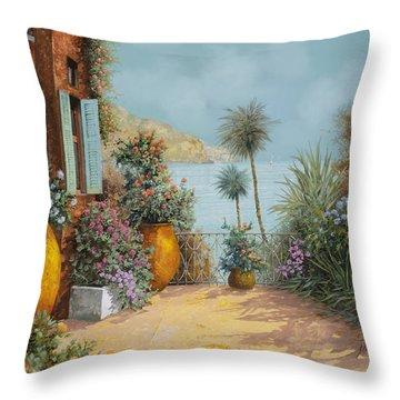 Gli Otri Sul Terrazzo Throw Pillow by Guido Borelli