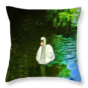 Glide Throw Pillow by Kat Besthorn