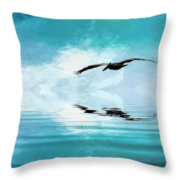 Gliding Throw Pillow by Cyndy Doty
