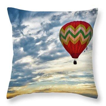 Gliding Through Sunset Throw Pillow