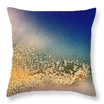Glimmer Liquid Abstract Art Fluid Painting By Kredart Throw Pillow