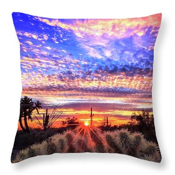 Glimmering Skies Throw Pillow by Rick Furmanek