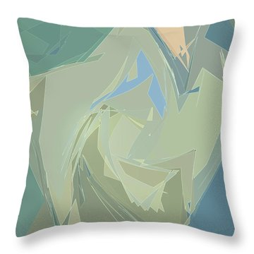 Throw Pillow featuring the digital art Glimmers by Gina Harrison