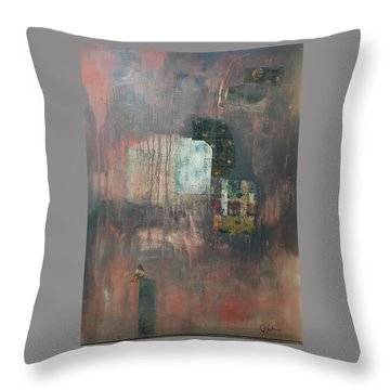Glimpse Of Town Throw Pillow